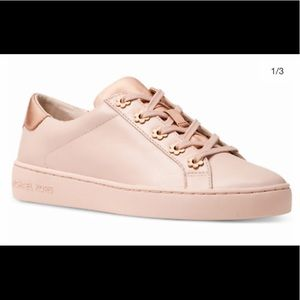 MICHAEL KORS Womens Irving Leather Sneakers Size 7